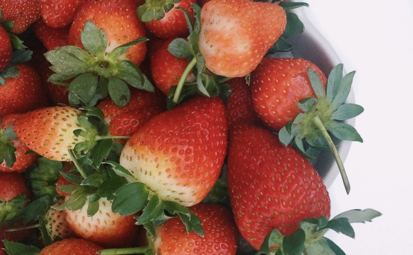 locally grown strawbs